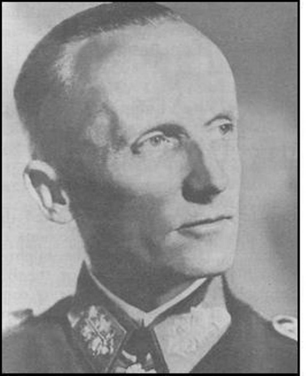 Fifth Panzer Army Commander - Gen. Hasso von Manteuffel.
