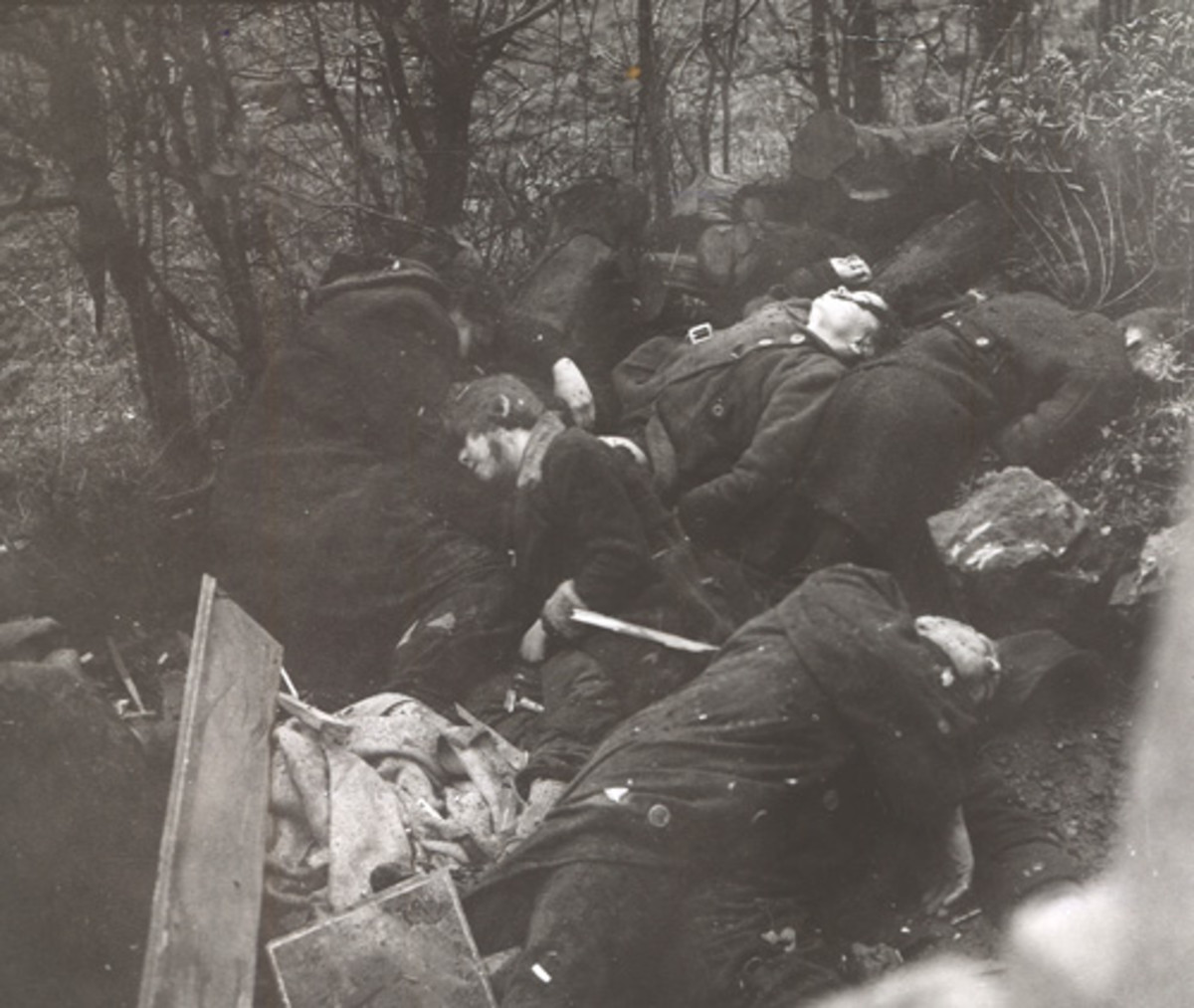 Massacre at Stavelot: Civilians shot and clubbed to death by the SS.
