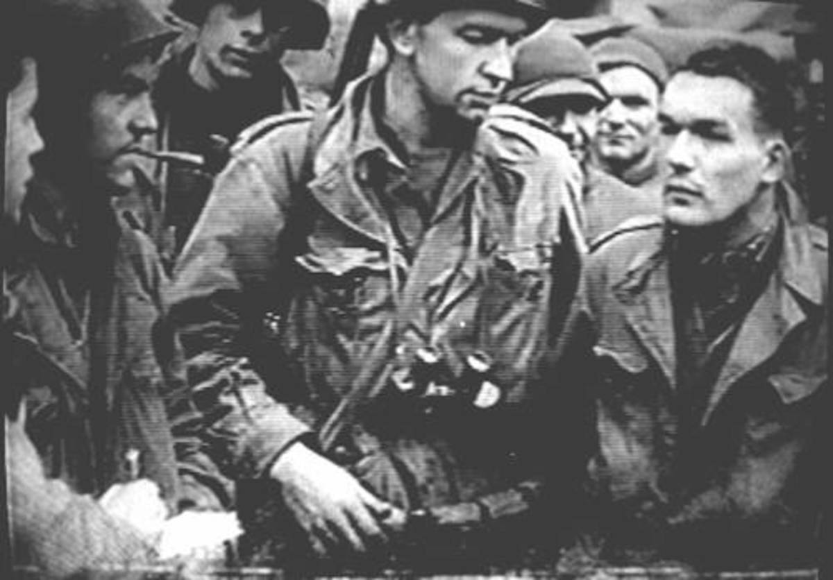 Ivan Long's platoon tell their remarkable escape to the men at St. Vith.