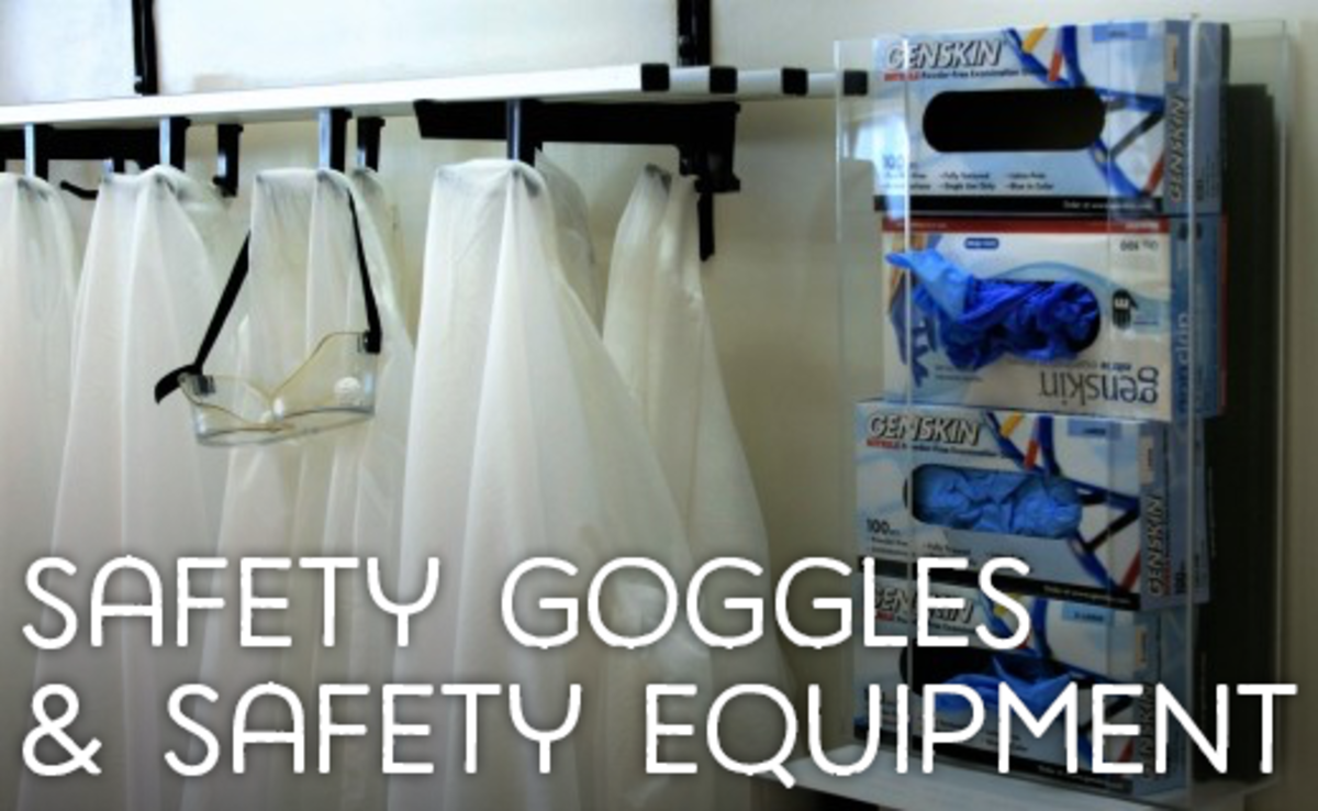 Safety goggles and safety equipment