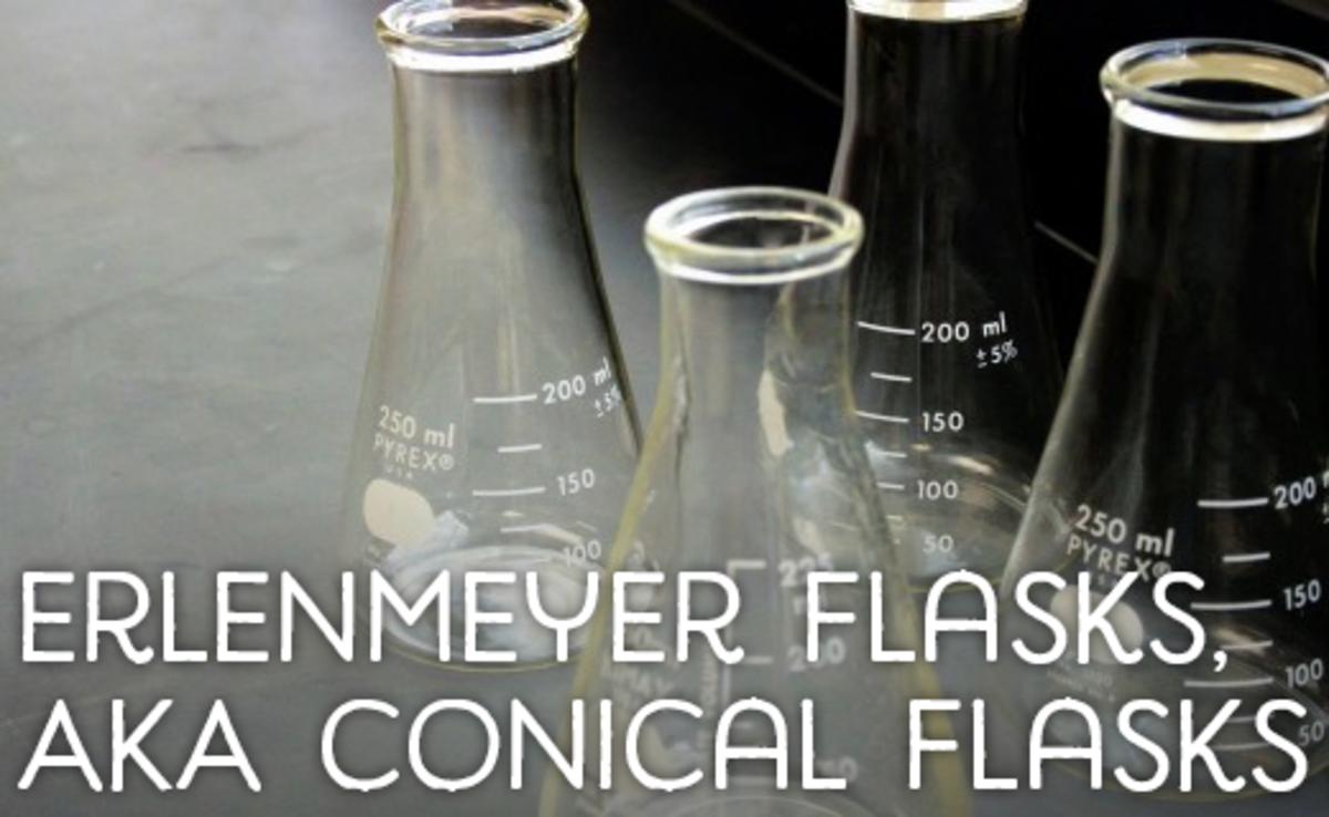 Erlenmeyer flasks, AKA conical flasks