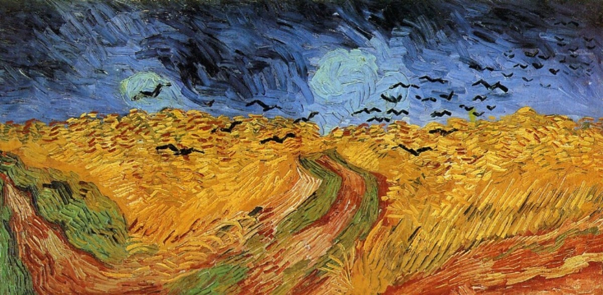 """Wheat Field With Crows"" by Vincent Van Gogh."