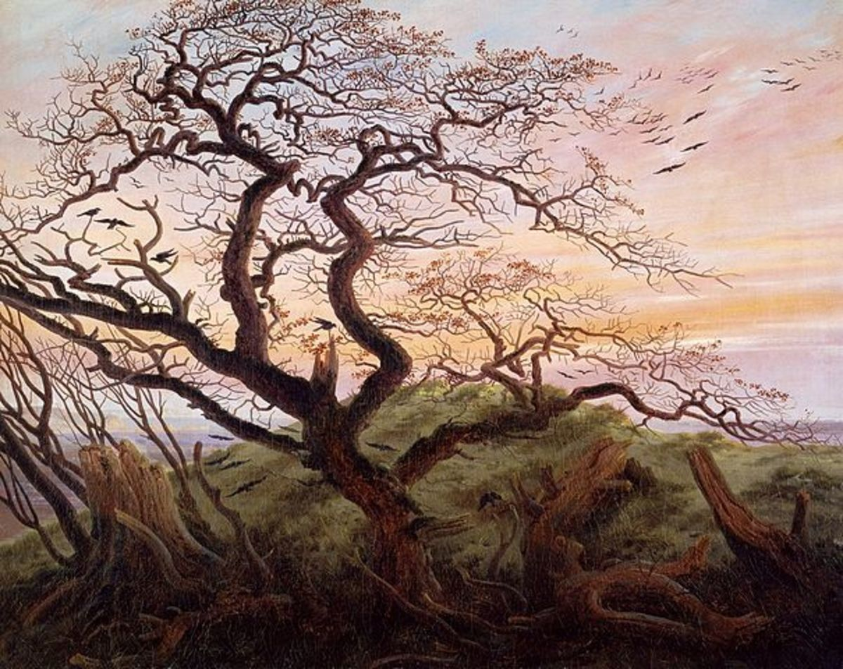 """The Tree of Crows"" by Caspar David Friedrich (1774-1840)."