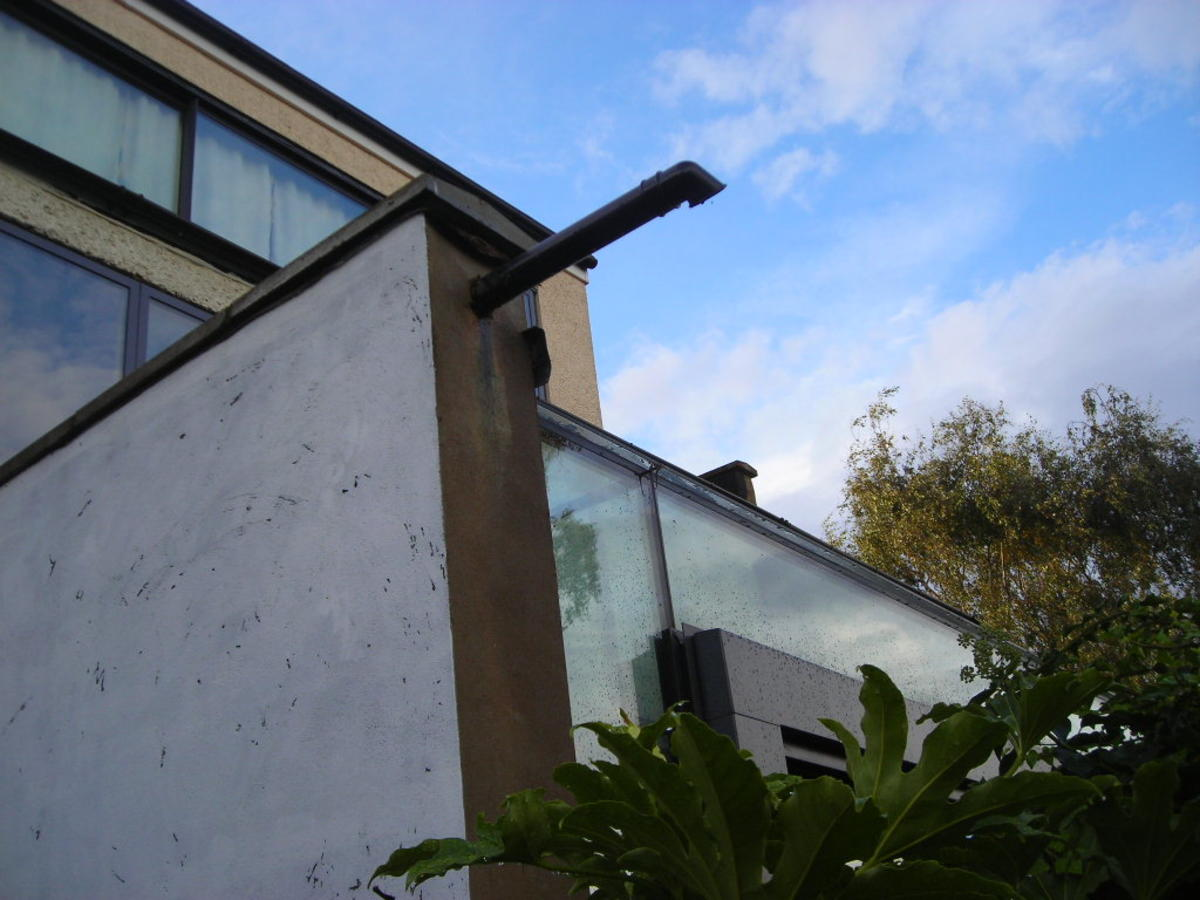 When this house extension was built,  a party wall agreement was made that the adjoining home owner is permitted to build up against the wall at some time in the future