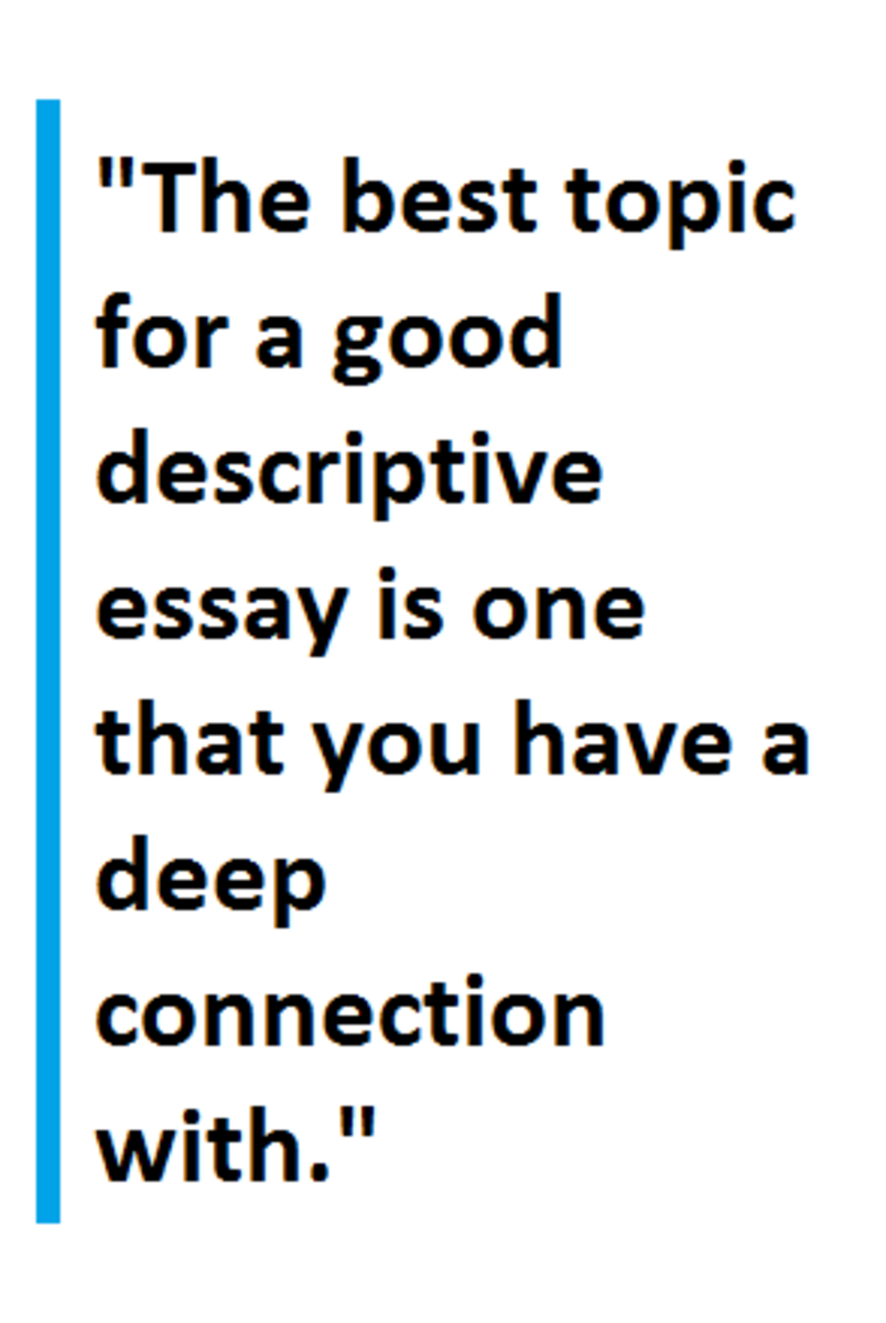 tips for writing a descriptive essay owlcation the best part about descriptive essays is that they can be about pretty much anything from persons to places animals or even events and much more what