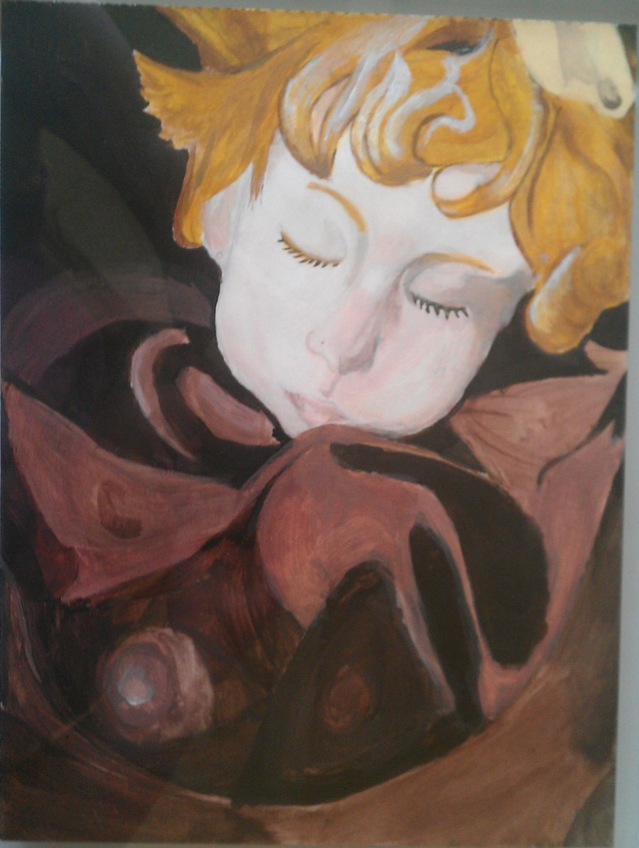 An oil painting of Rosalia. According to the artist, it's their favorite piece.