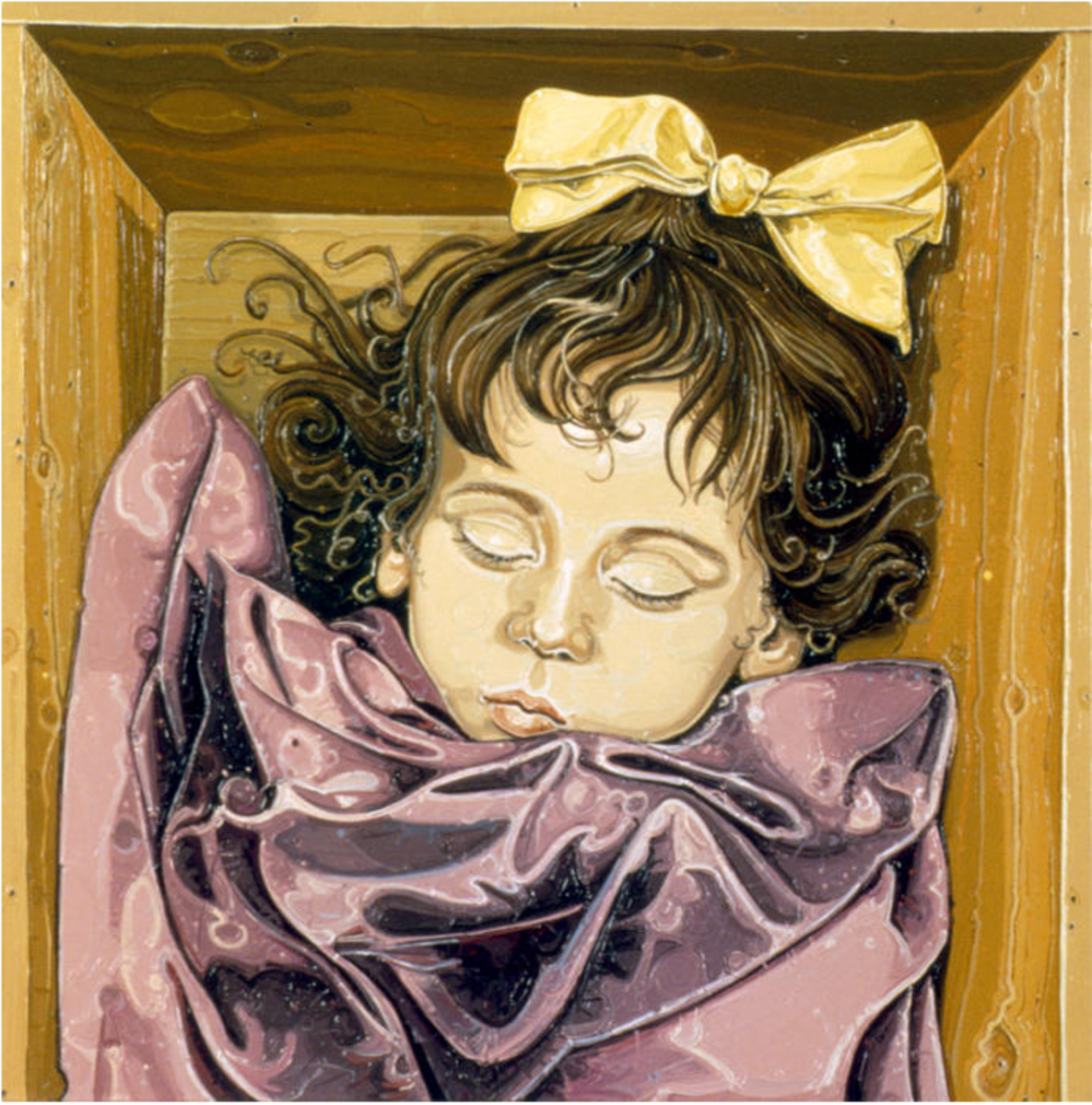 An Oil Painting of Rosalia by Julie Roberts from the Glasgow School of Art.