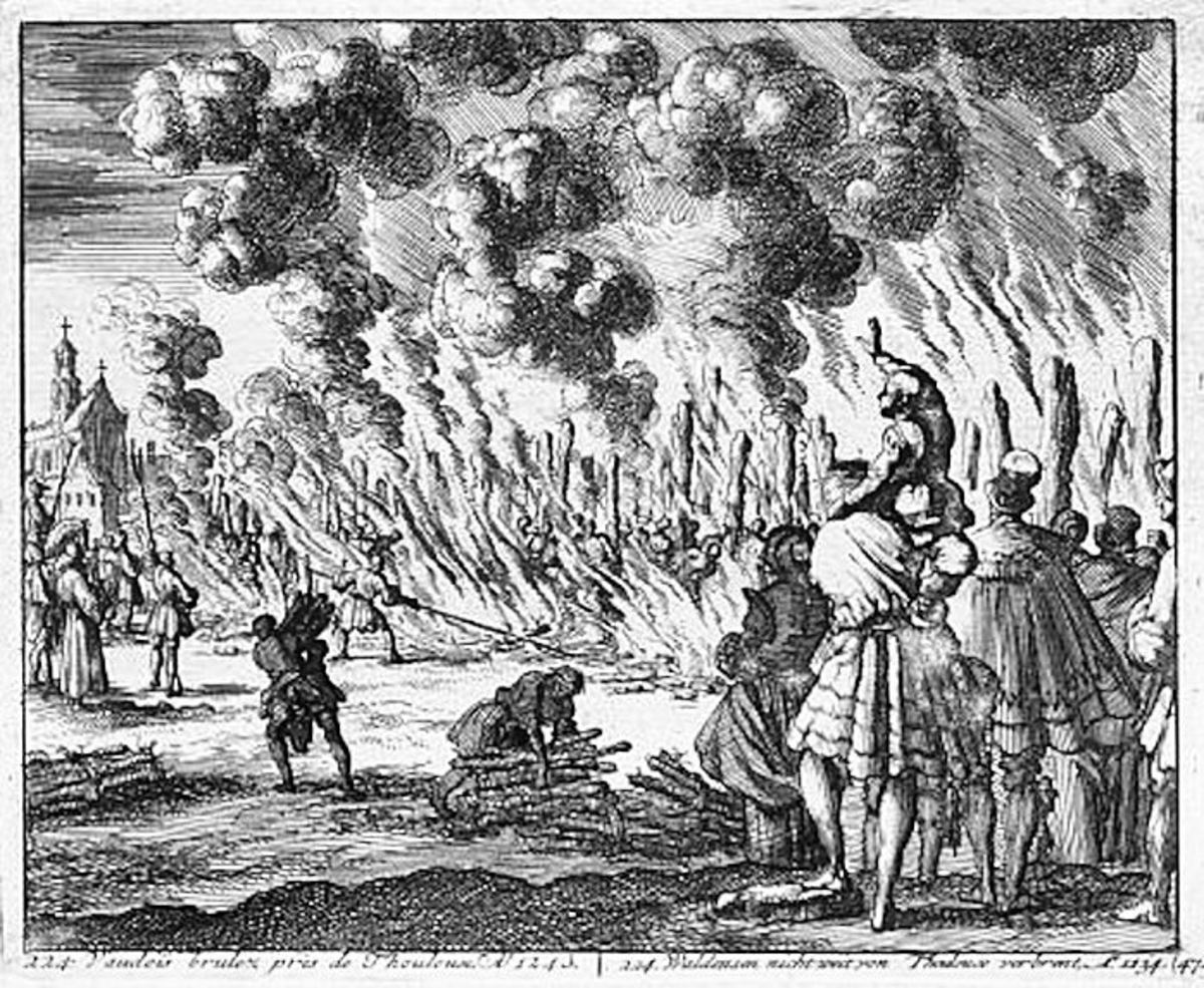 Burning of the Waldensians in Toulouse in the 13th century.