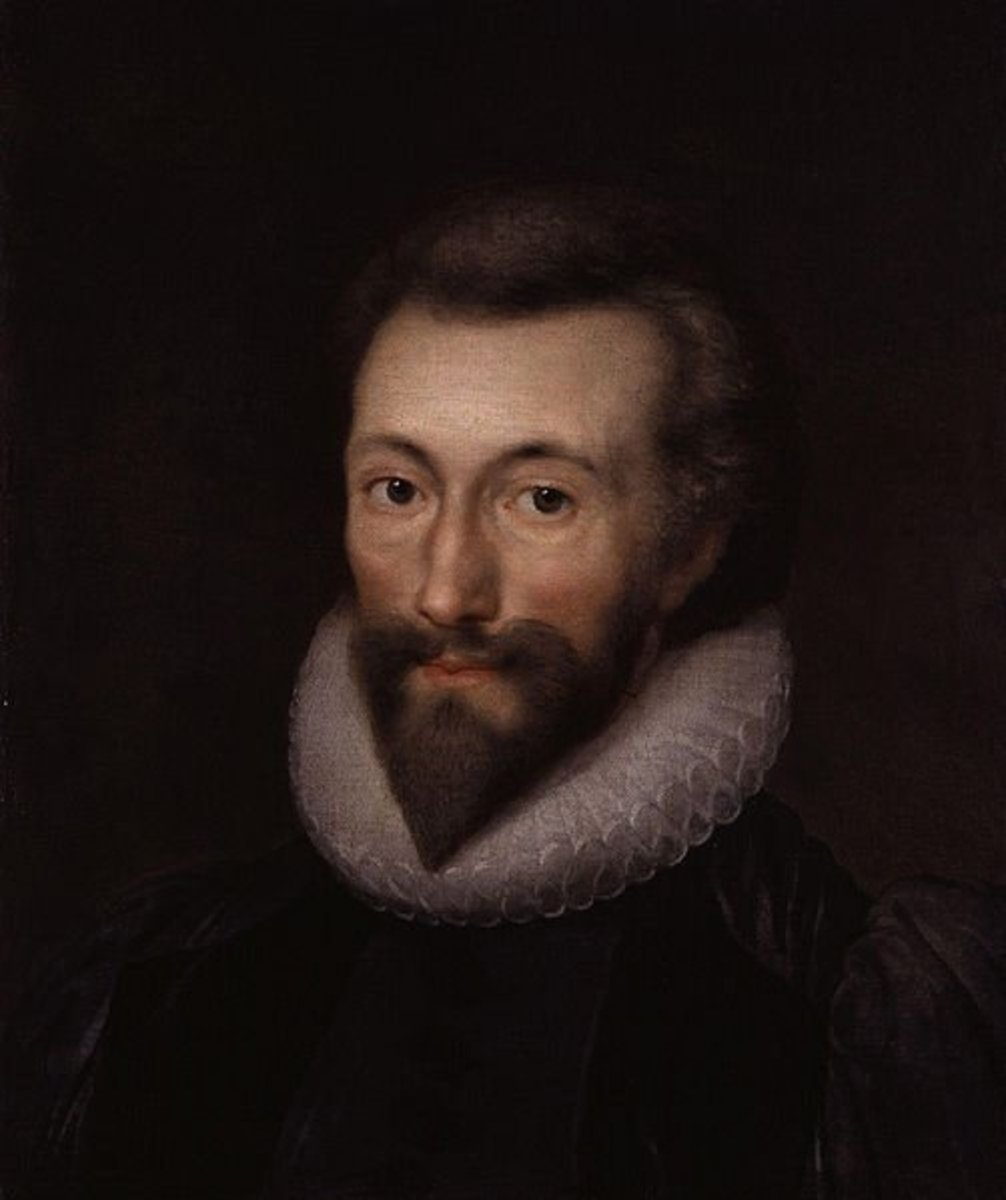 John Donne painted by Isaac Oliver