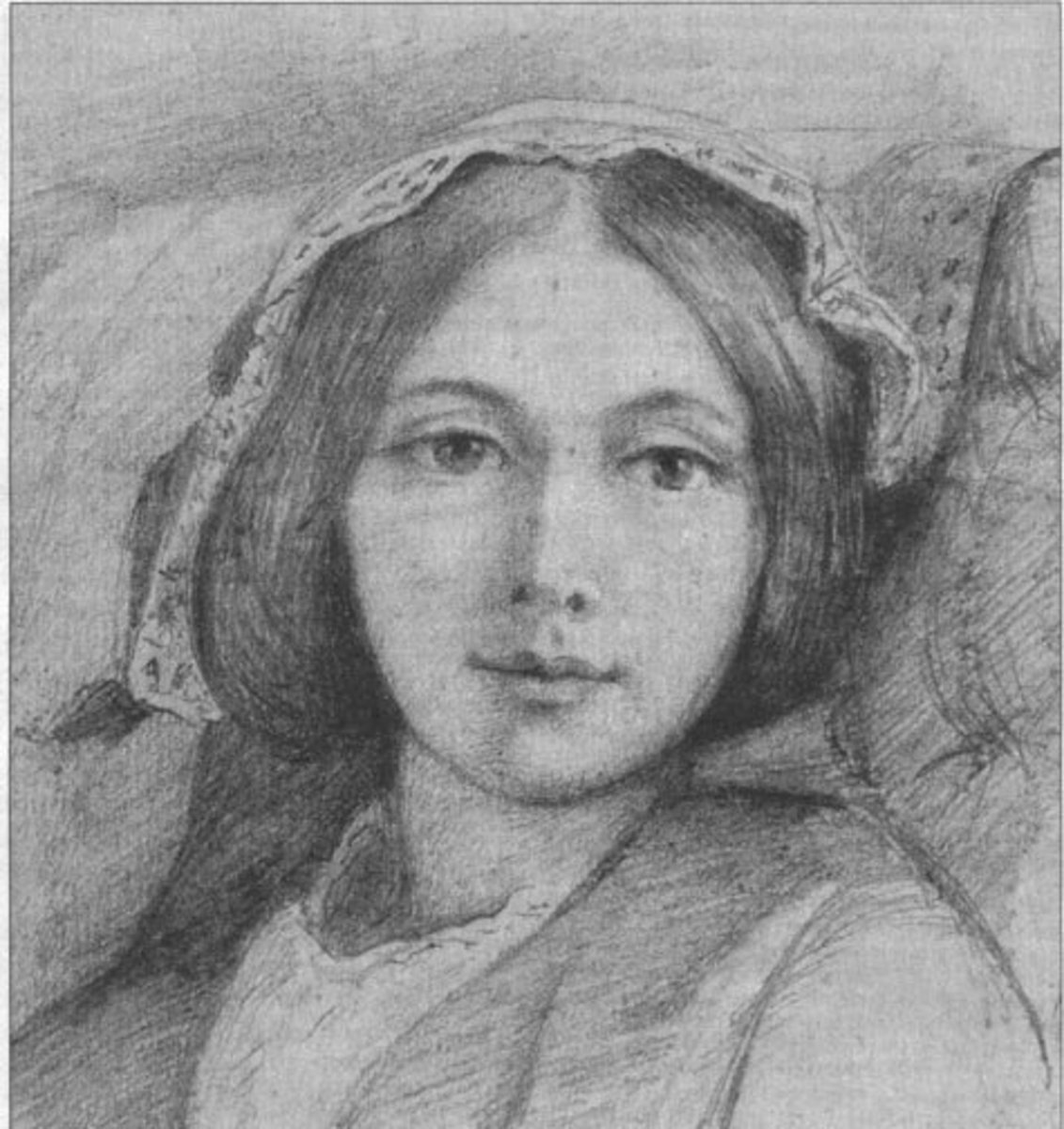 Mary Meredith, drawn by the man she left her husband George for, Henry Wallis.