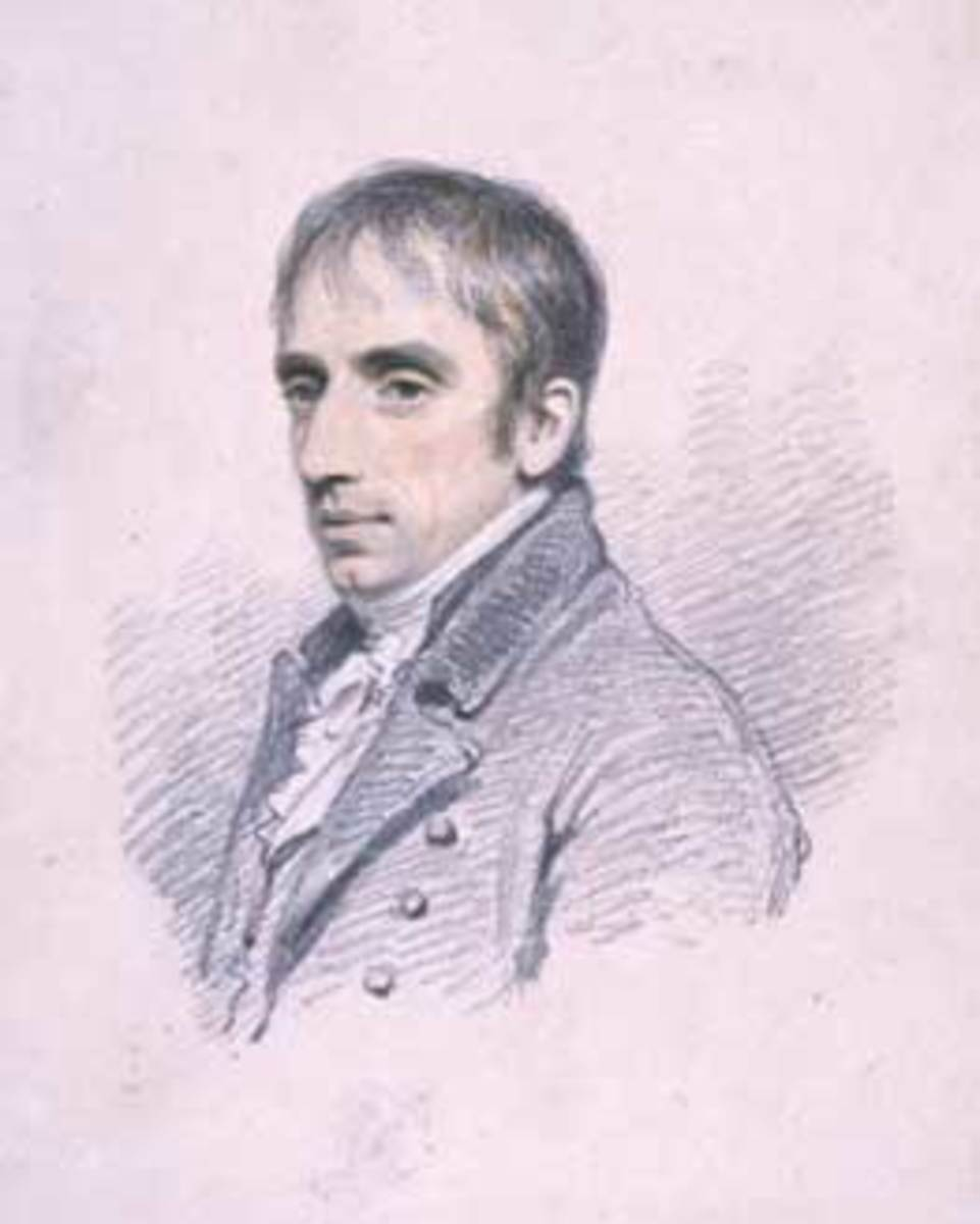 William Wordsworth sketched by Henry Eldridge.