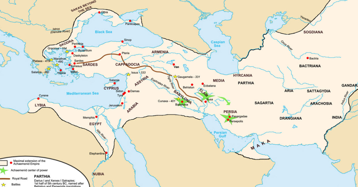 The Persian Empire at its Greatest Extent