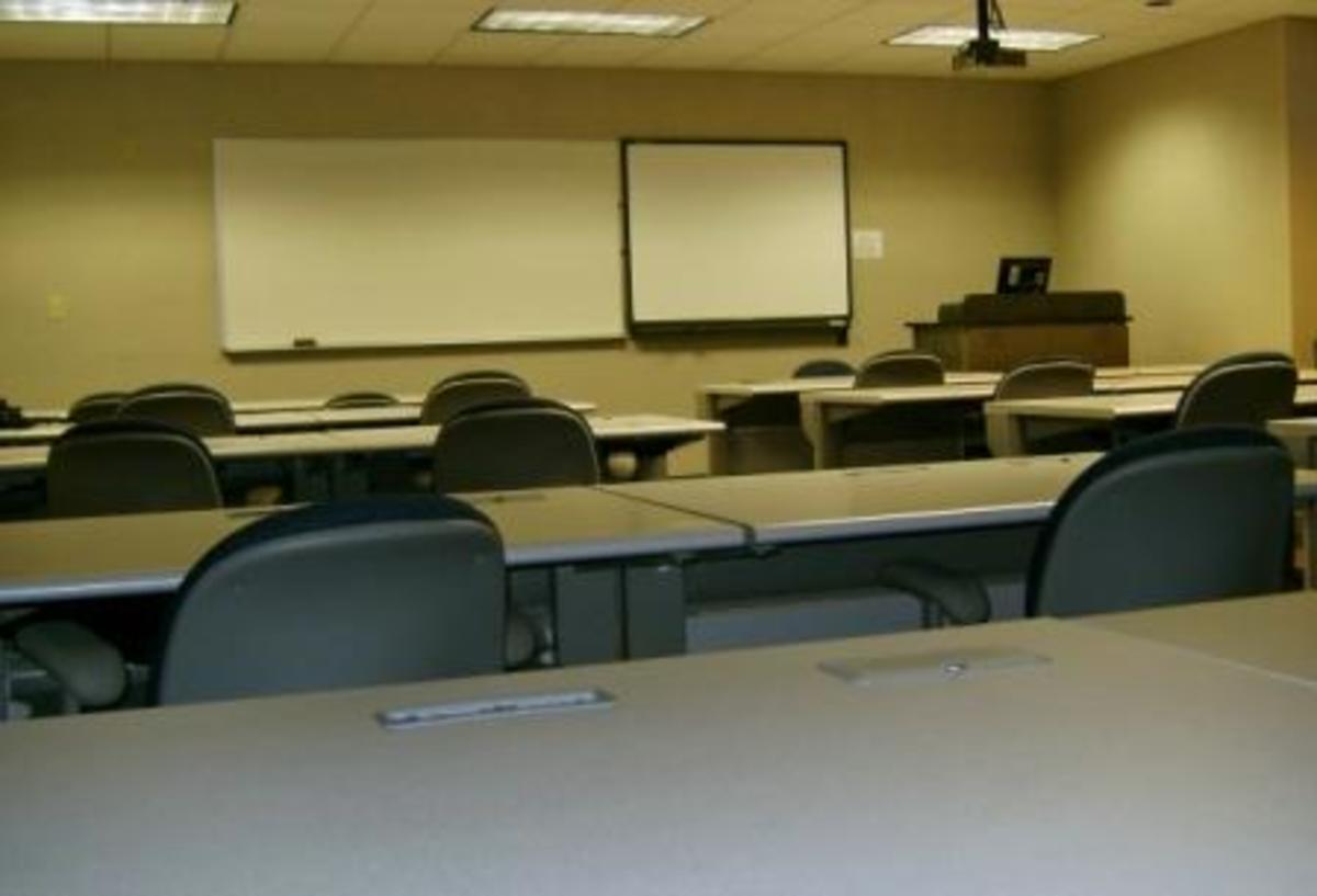 A typical community college classroom