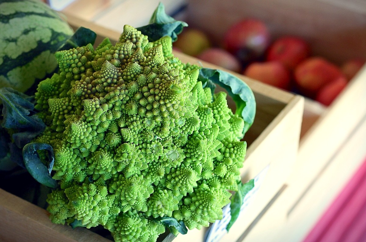 Green vegetables such as romanesco broccoli contain nitrates.