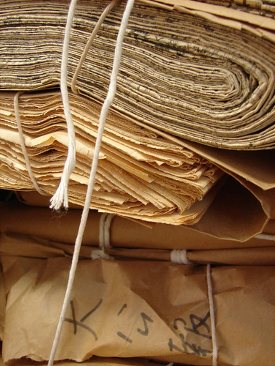 The first real paper was made in China from textile rags. The earliest known paper comes from the 2nd Century AD.