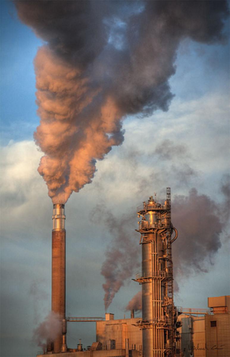 A modern Swedish paper factory.