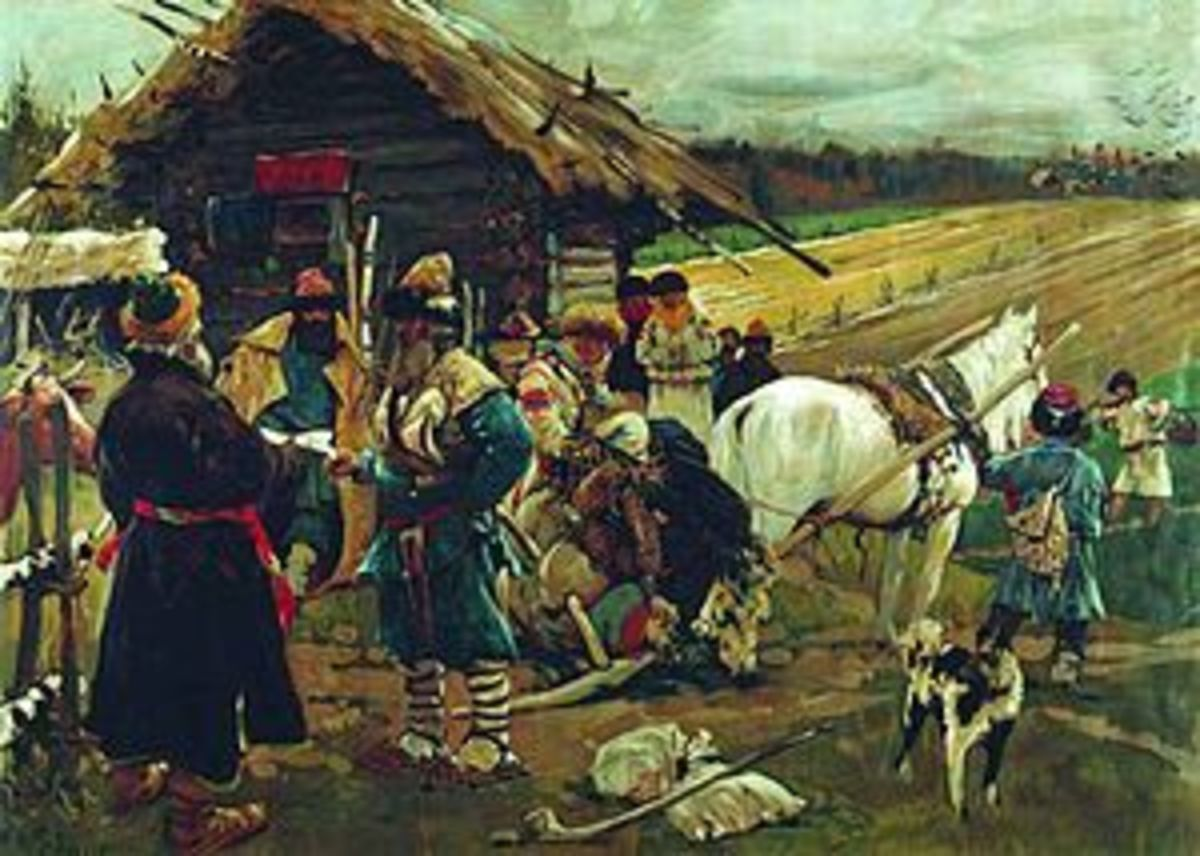 Russian serfs as apart of the feudal system