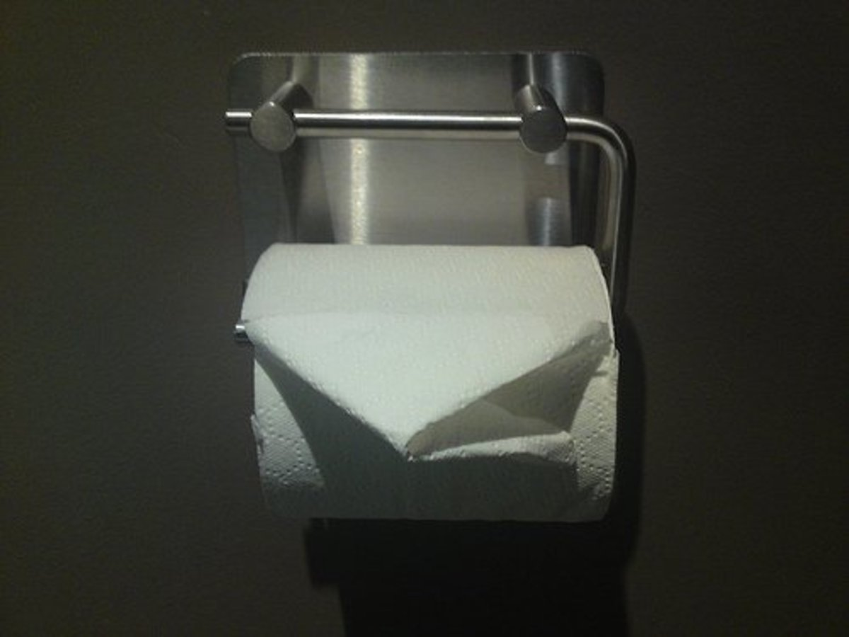 A neatly folded toilet roll. A standard roll will have about 400 yards of paper ready to use!
