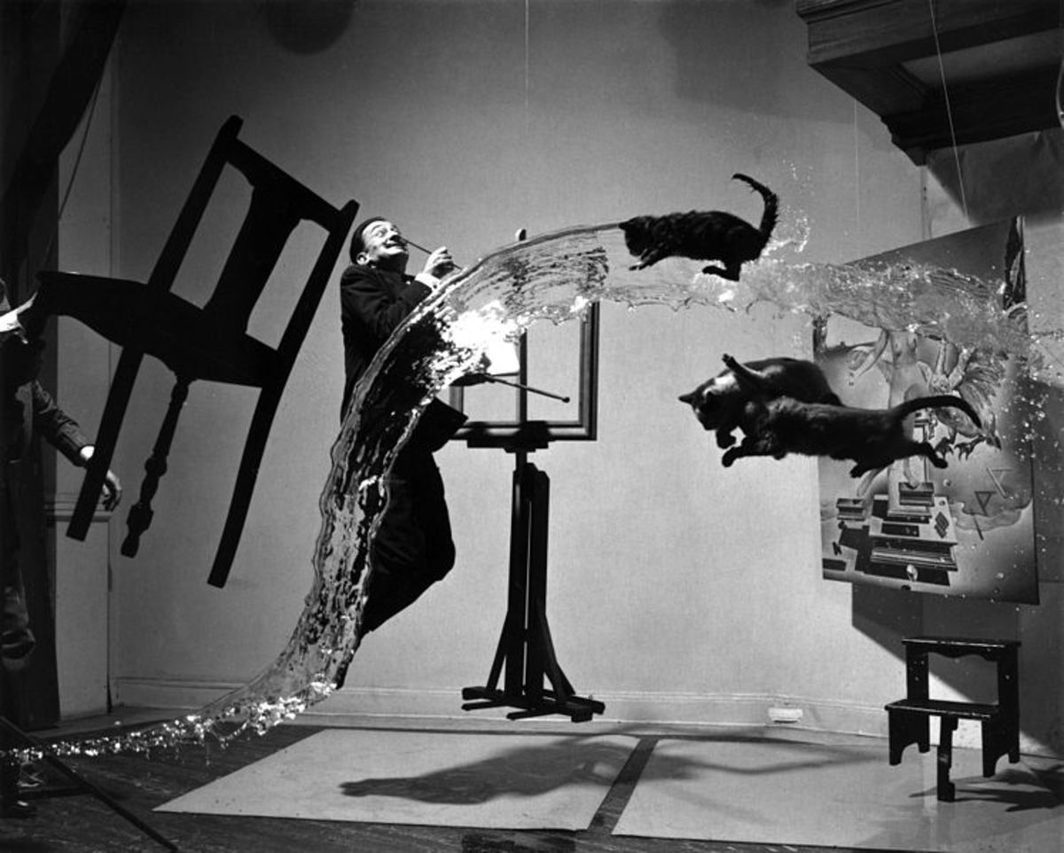 Salvador Dali suspended in reality or dream?
