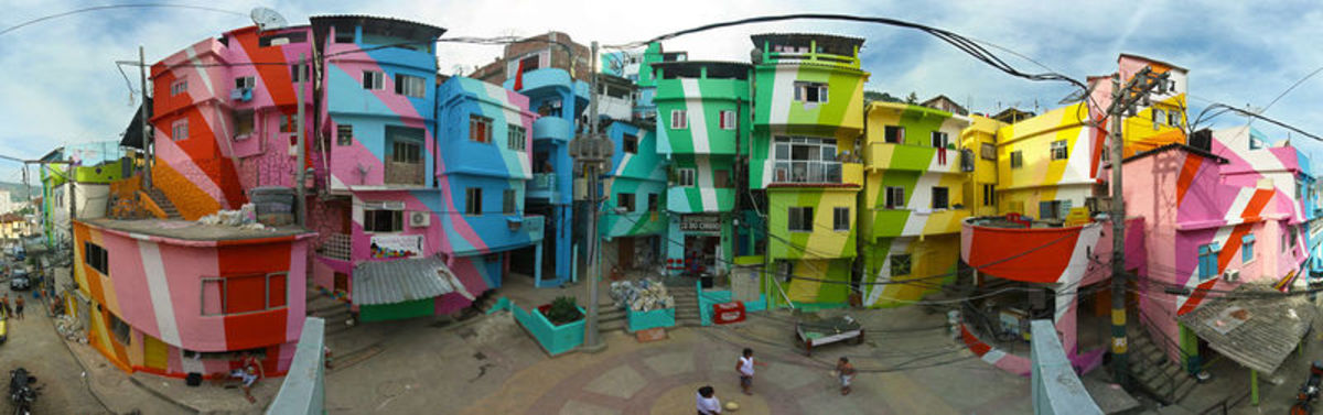 The favela in all its glory.