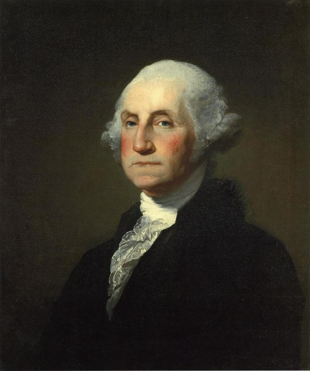 1797 based on the uncompleted Antheneum portrait by Gilbert Stuart ; completed by Charles Willson Peale.