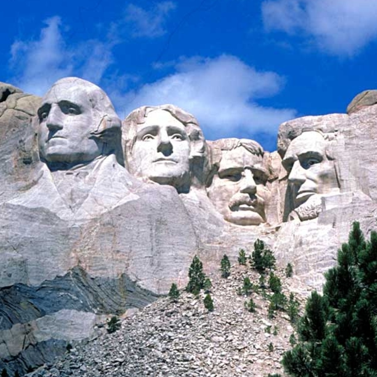 Mount Rushmore - George Washington - Thomas Jefferson - Theodore Roosevelt - Abraham Lincoln