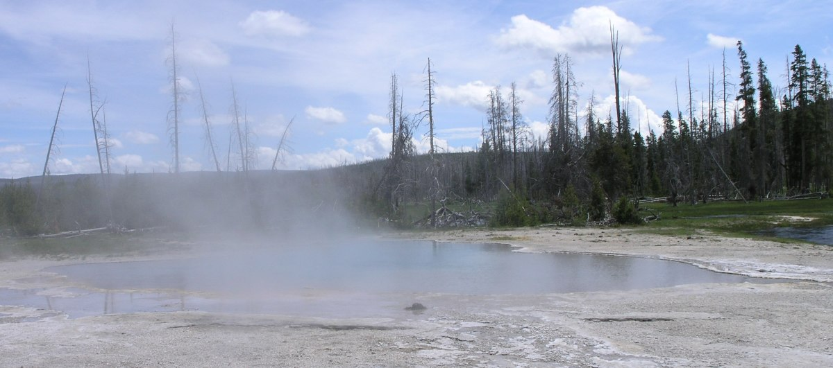 Shallow magma pockets are responsible for the geothermal activity seen in the park today.