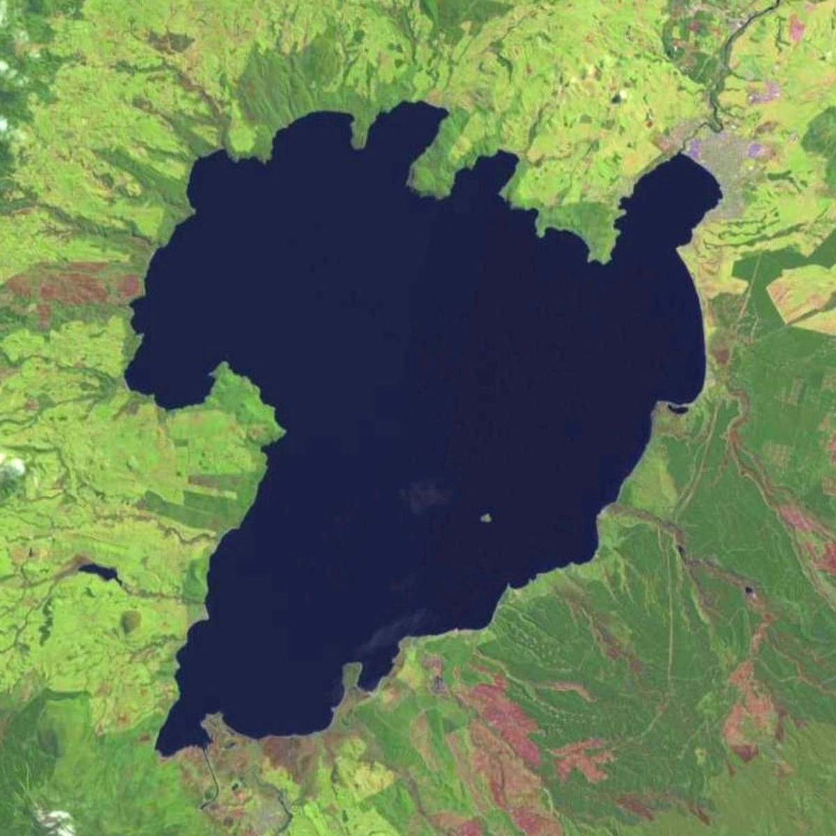 Lake Taupo sits in the crater of a supervolcano on New Zealand's north island.