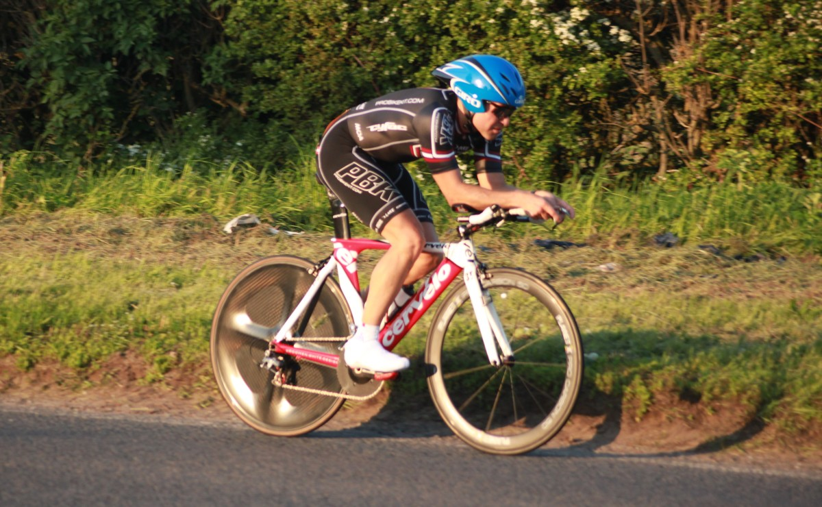 Chasing a fast time in a cycling time trial is a sign of competitiveness and is driven by achievement motivation