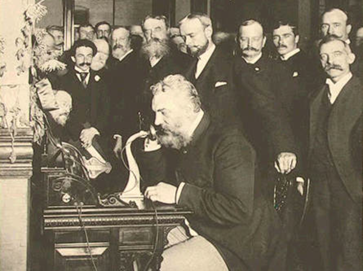 In 1892, Alexander Graham Bell made the first long distance call using his new device, making contact between New York and Chicago.
