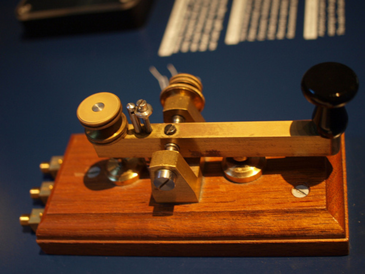 The 'Morse Telegraph' was the most advanced method of long distance communication before Alexander Graham Bell invented his 'acoustic telegraph' or telephone.