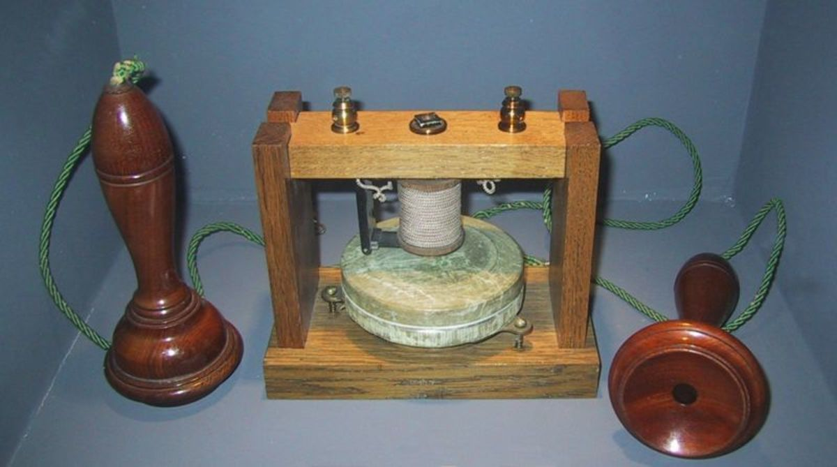 The 'acoustic telegraph' invented by Alexander Graham Bell and the precursor to the modern telecommunications revolution.