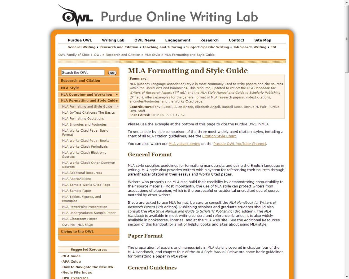 Websites like Purdue Online Writing Lab can help with formatting and citations.