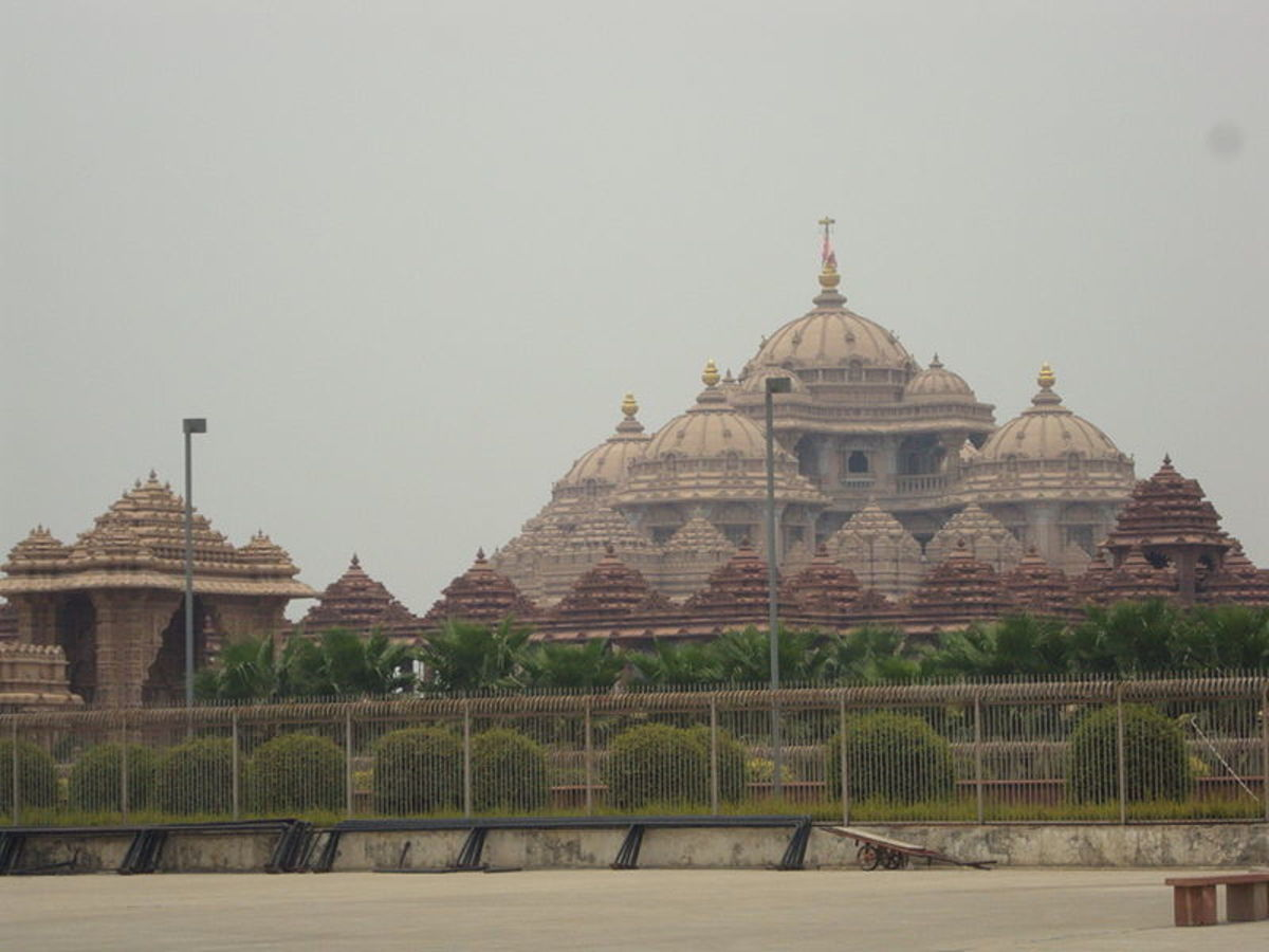 The biggest Hindu temple in the world, with great stone carvings