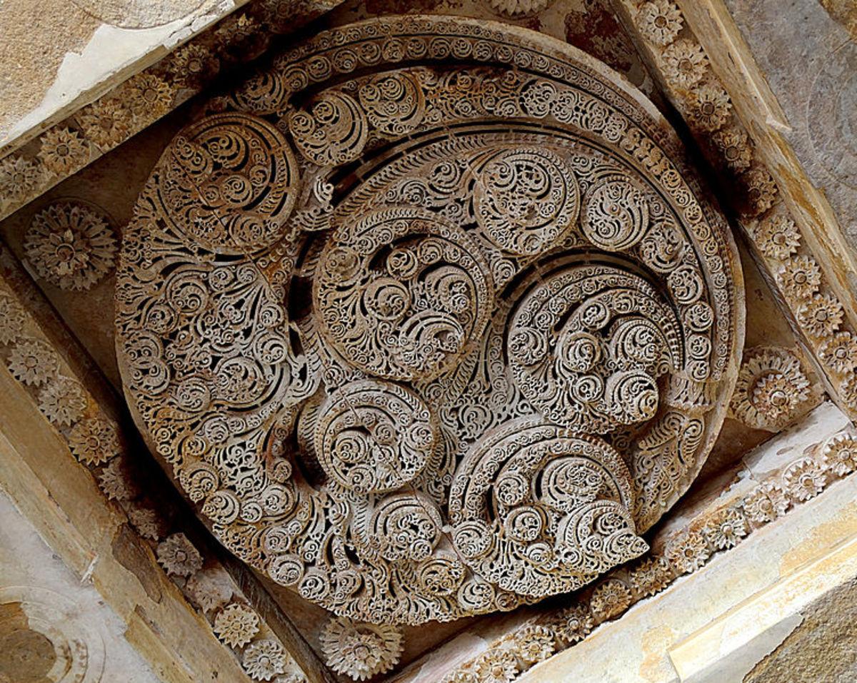 Ceiling at Jami Masjid, Champaran