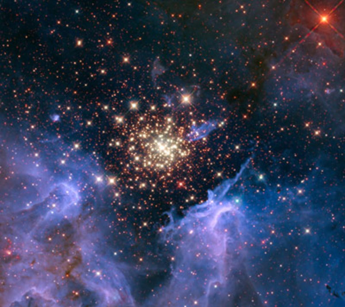 A star cluster in the Carina Nebula.