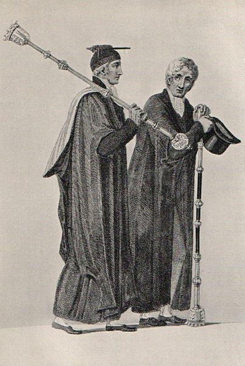 Bedels from Cambridge, 1815 (Bedels are administrative officials)
