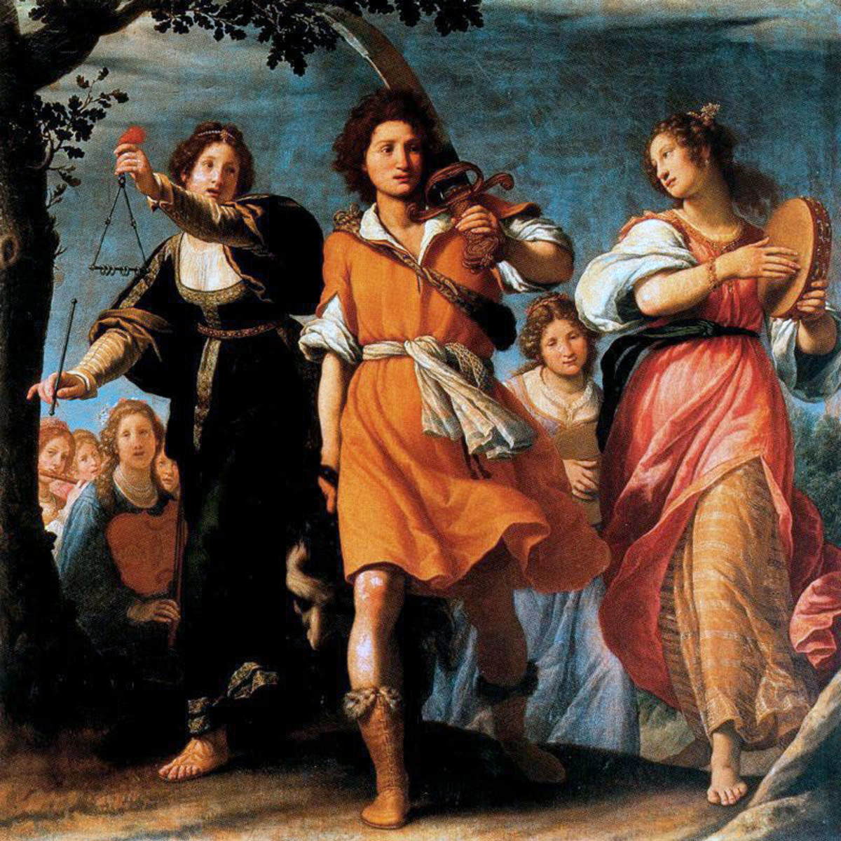 Painting of The Triumphant David. Artist: Matteo Rosselli. (1578-1650)