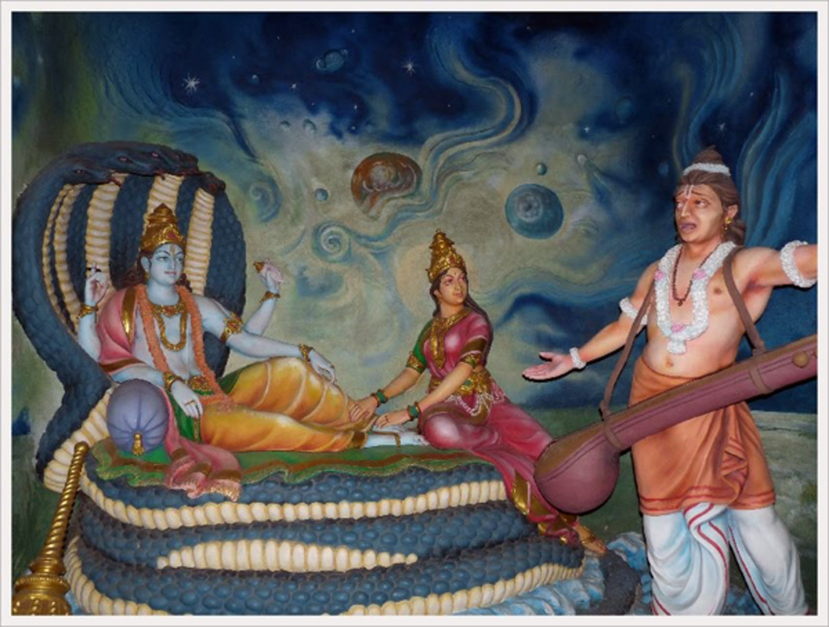 The celestial sage Narada had his questions about the potency of the Lord's name and he asked Lord Vishnu about it.