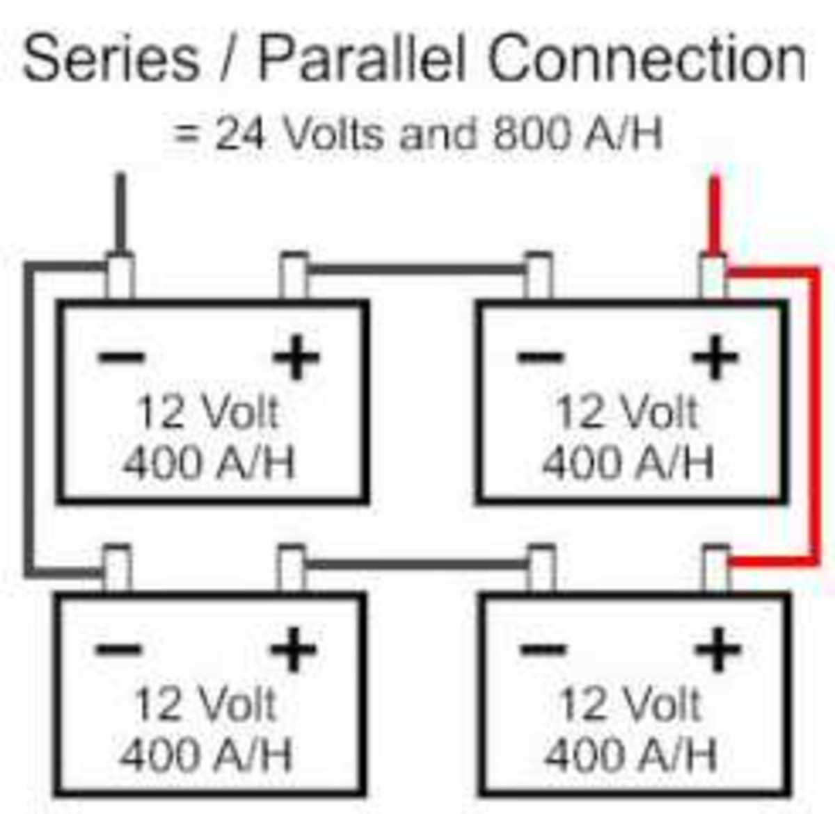 connecting batteries  serial  parallel  serial and parallel u2014dc voltages  current  and wattage on