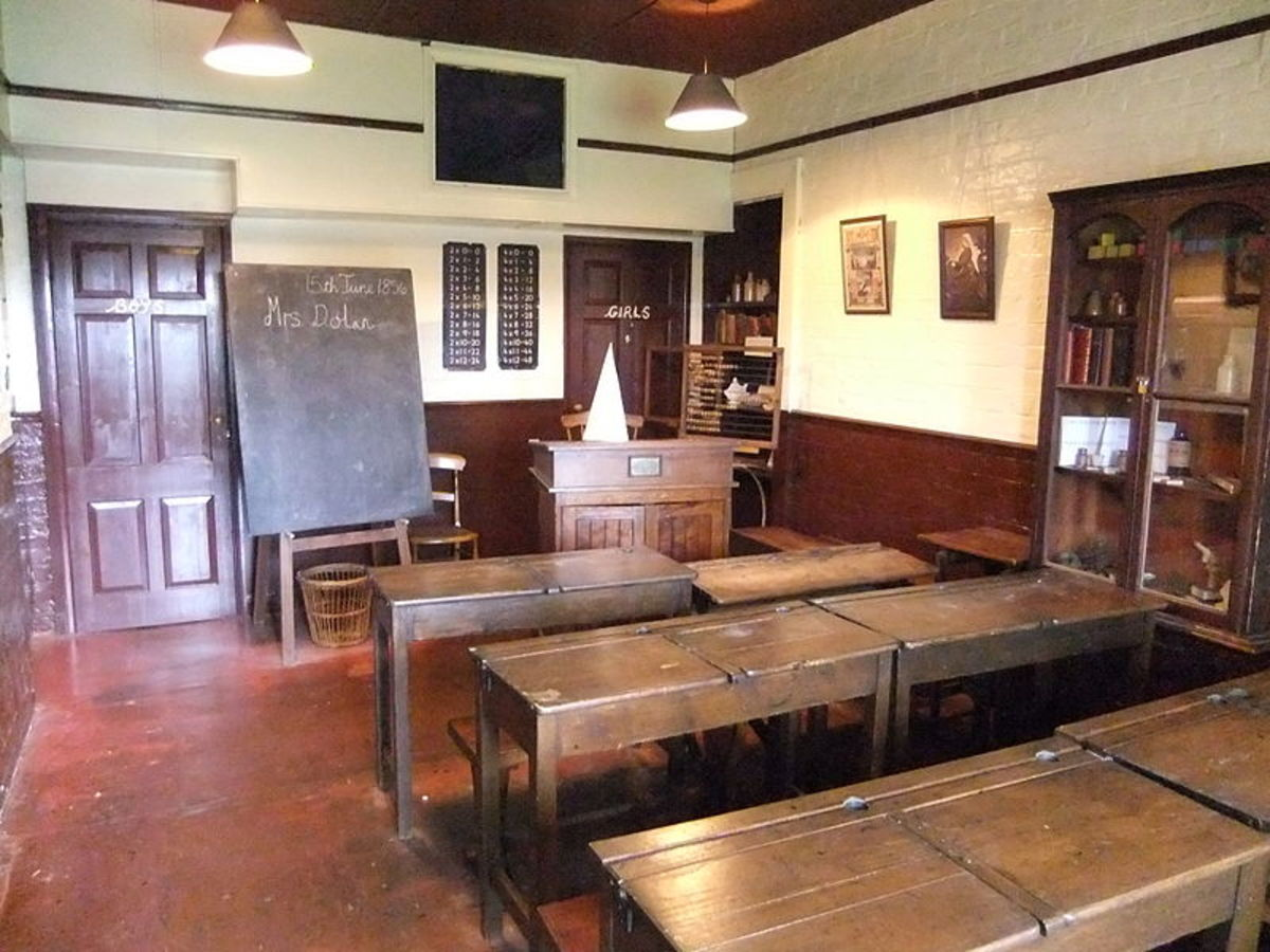 A typical Victorian school room of the kind that, under the influence of Charles Dickens, began to be introduced into the workhouses to help improve the futures of the poorest children.