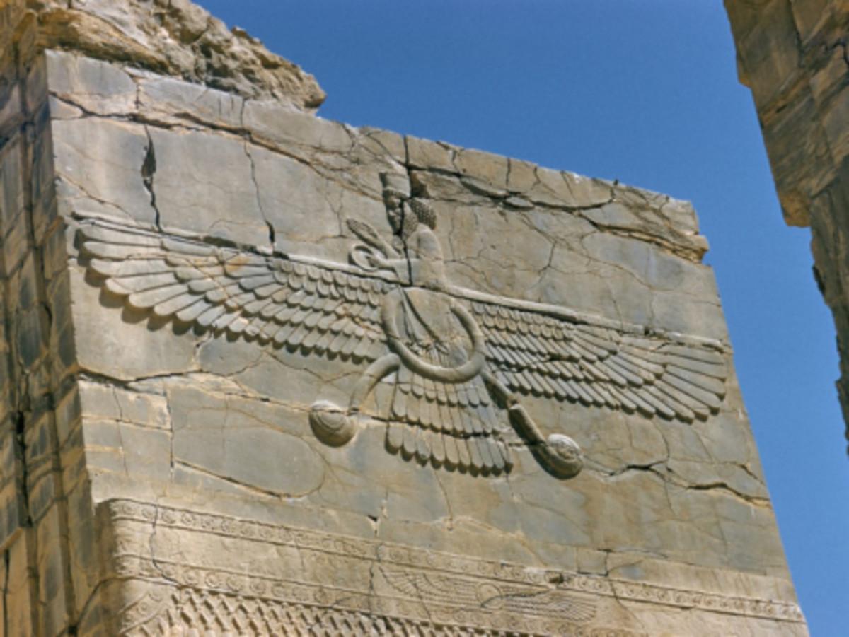 The Zoroastrian god of light and truth, Ahura Mazda.