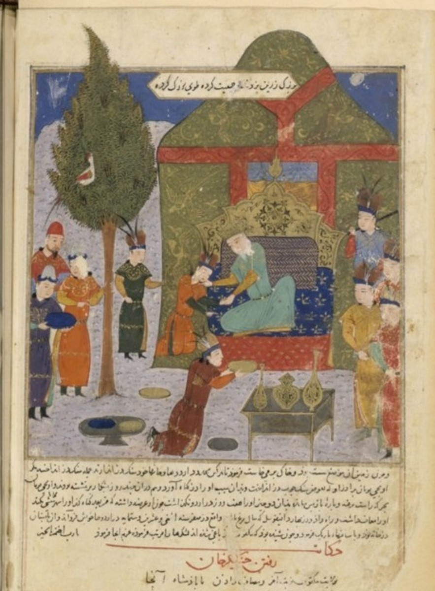 Temujin is proclaimed Khan in this picture.