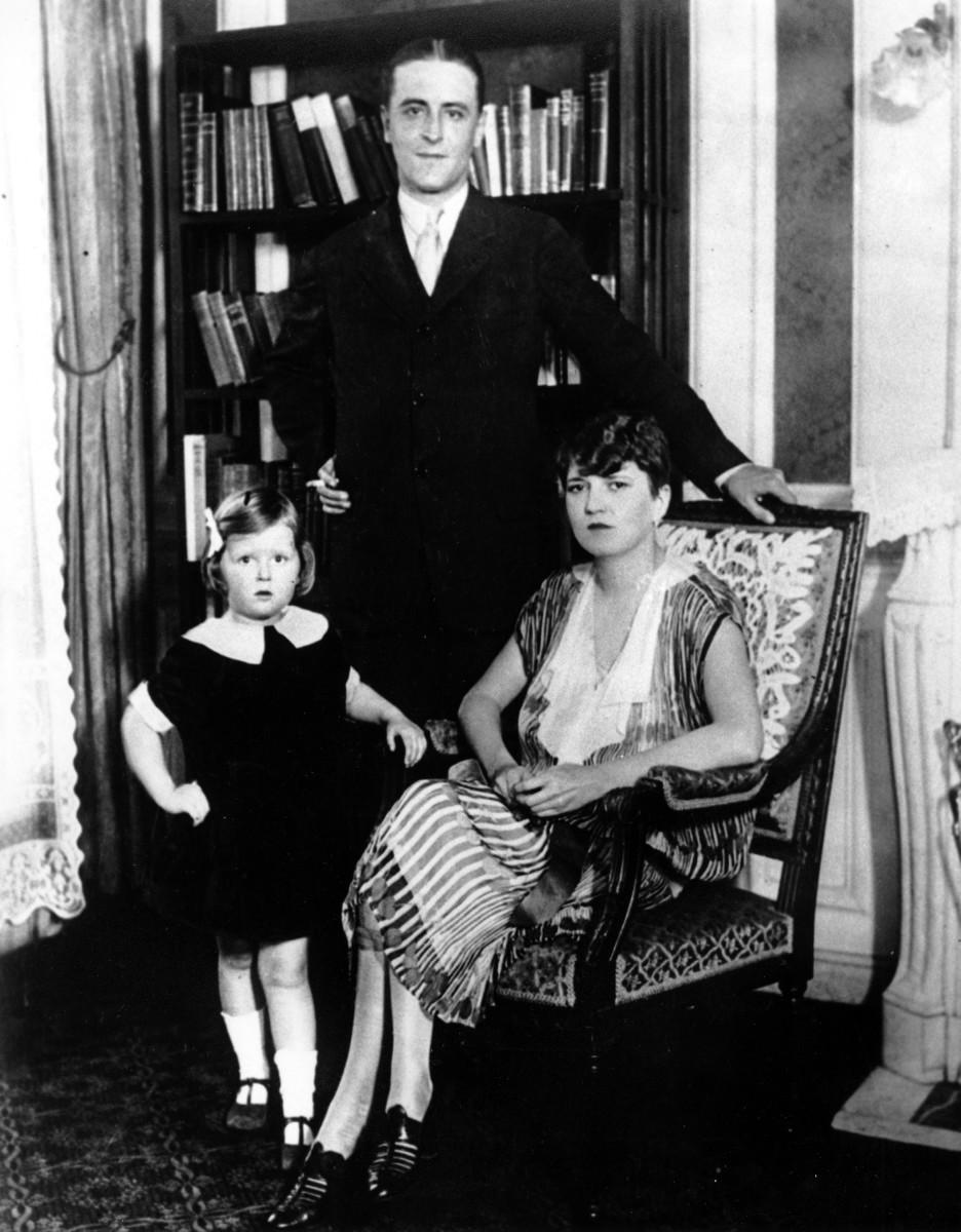 Fitzgerald, Scottie and Zelda.  A family portrait.