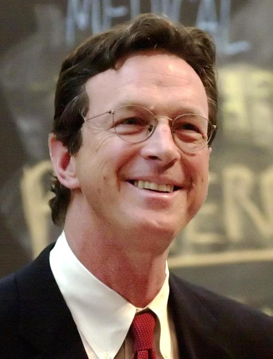 Michael Crichton doesn't look scared!