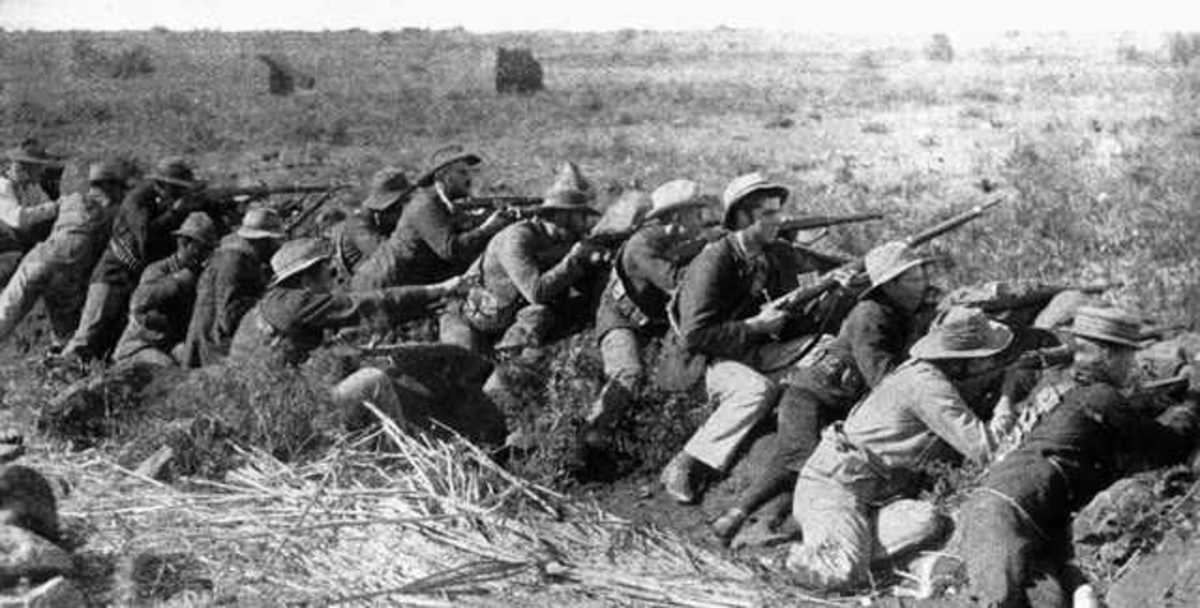 Although the British were superior in number, trench warfare and modern weaponry reduced their effectiveness. This type of warfare was a prelude to what would happen in World War I fourteen years later.