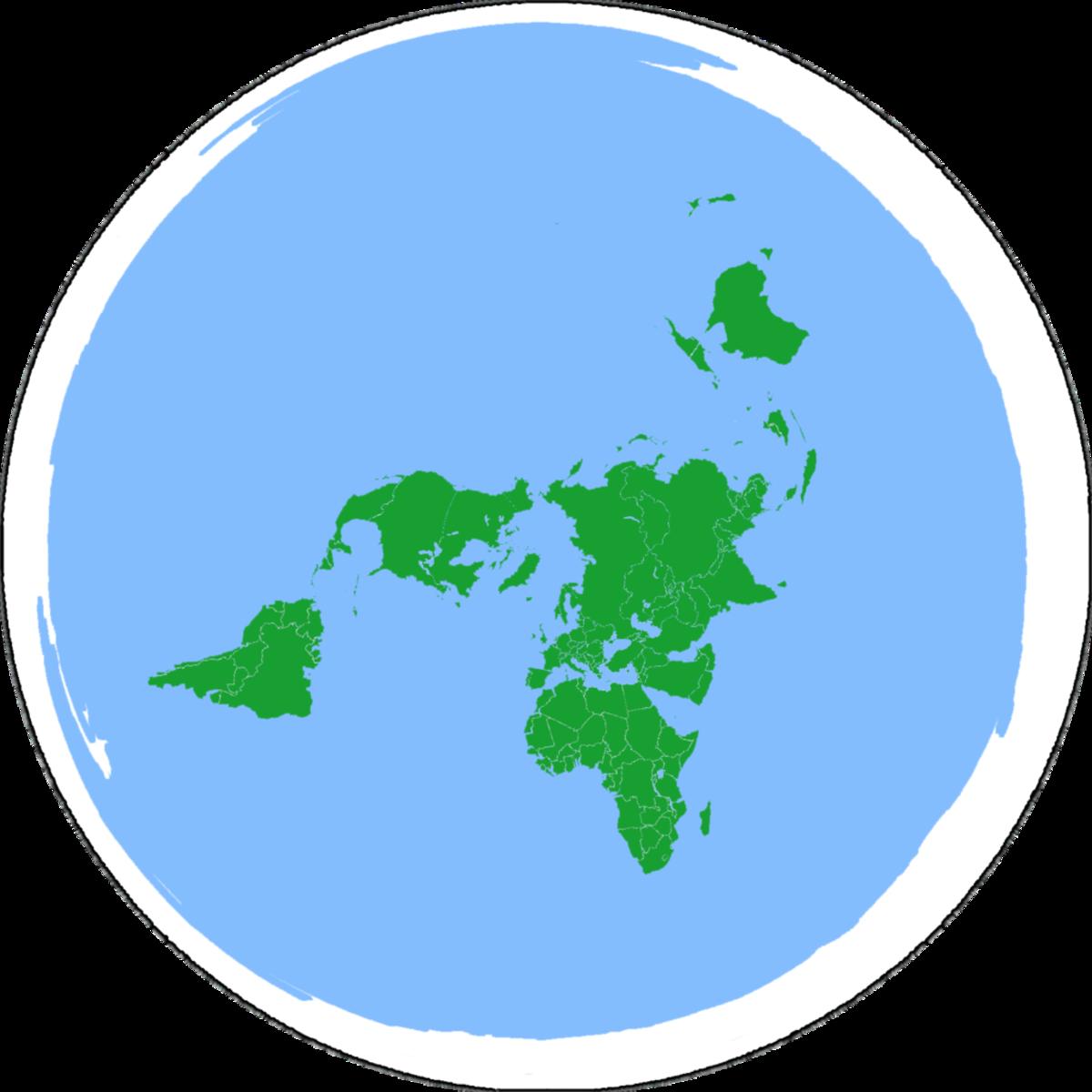 Model of a flat earth