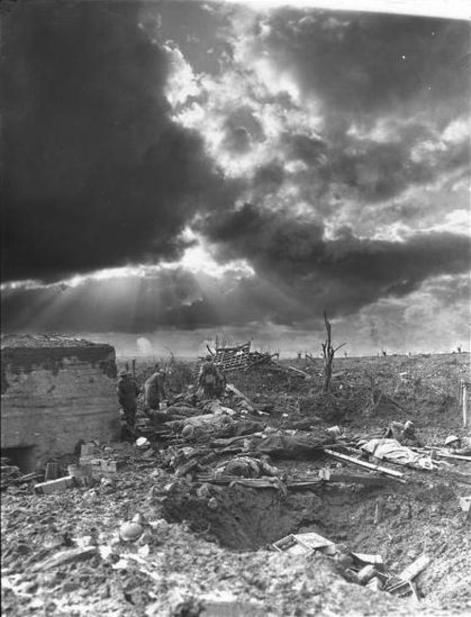 Morning, World War I battlefield.