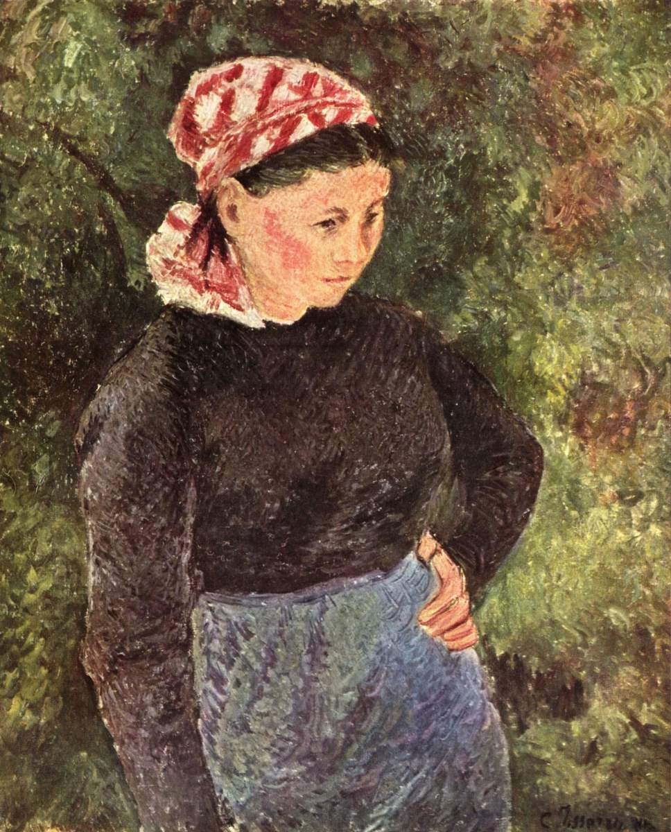 """Farmer"" by Camille Pissarro, late 19th century. Oil on Canvas."