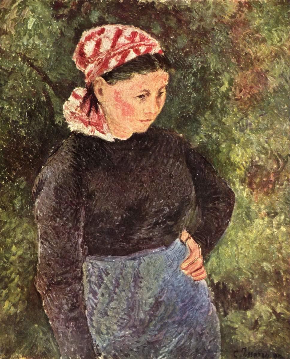 """Farmer"" by Camille Pissarro, late 19th century. Oil on Canvas."
